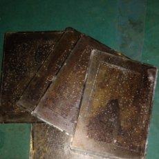 Coleccionismo Papel Varios: 9 PLANCHAS TIPOGRÁFICAS. CARACTERES MEDIEVALES. Lote 206290328