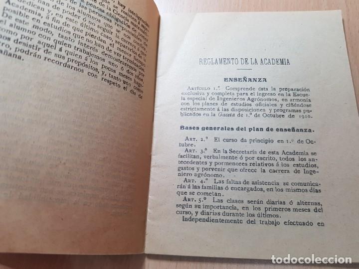 Coleccionismo Papel Varios: ACADEMIA ESCUELA INGENIEROS AGRONOMOS OTEYZA BARINAGA Y DE LA LOMA AGRICULTURA MADRID 1914 - Foto 3 - 206326533