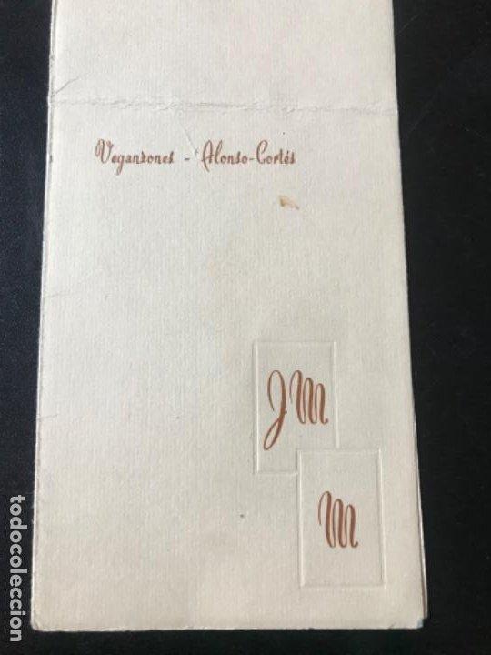 Coleccionismo Papel Varios: menu diptico Hotel carlton Madrid enlace boda 1969 21x8,1 - Foto 3 - 206842781