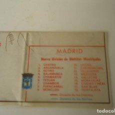 Coleccionismo Papel Varios: PLANO MADRID, DISTRITOS POSTALES Y MUNICIPALES DE 1982. Lote 206928933