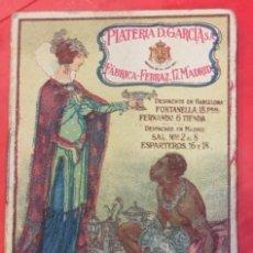 Coleccionismo Papel Varios: CUENTO DE CALLEJA PROPAGANDA DE PLATERIA D. GARCIA,, FABRICA EN MADRID EL MORO DE LAS BABUCHAS. Lote 207119263