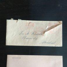 Coleccionismo Papel Varios: RAREZA NUNA VISTA EN TODOCOLECCION INVITACION A GALERIAS PRECIADOS COLECCION USO INMEDIATO 1958. Lote 207123221
