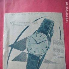 Coleccionismo Papel Varios: LONGINES.-RELOJES.-PUBLICIDAD.-AÑO 1960.. Lote 207139856