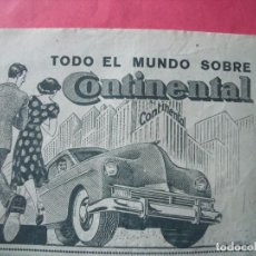 Coleccionismo Papel Varios: CONTINENTAL.-NEUMATICOS.-PUBLICIDAD.. Lote 207140072