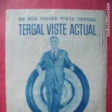 Coleccionismo Papel Varios: TERGAL.-ROPA.-MODA.-PUBLICIDAD.-MADRID.-BARCELONA.-BLANES.. Lote 207140401