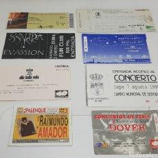 Outros artigos de papel: LOTE DE 8 ENTRADAS DE ESPECTACULOS DOVER RAIMUNDO AMADOR ELLA BAILA SOLA EVASSION LA CHULAPONA. Lote 207311567