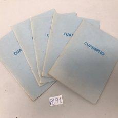 Coleccionismo Papel Varios: ANTIGUOS CUADERNOS CUADRICULADOS. Lote 207631138