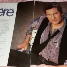 Coleccionismo Papel Varios: RICHARD GERE-70 PAGINAS+1 POSTER 43X30+ 1POSTER35X27 - CLIPPINGS SPAIN - VER FOTOS. Lote 208010720