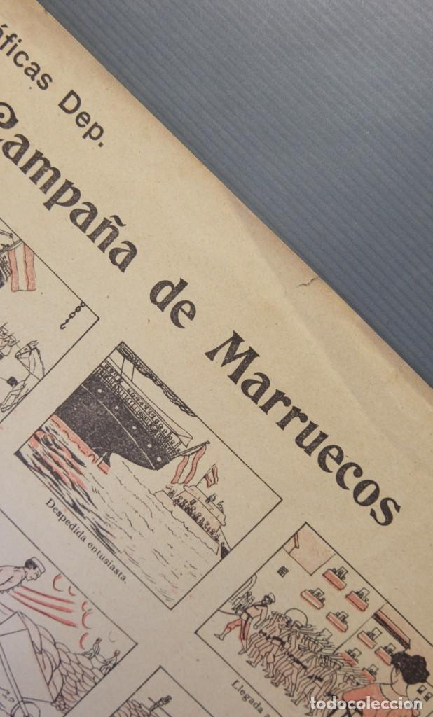 Coleccionismo Papel Varios: Auca La Campaña de Marruecos-Editorial Dep. Barcelona - Foto 2 - 208589542