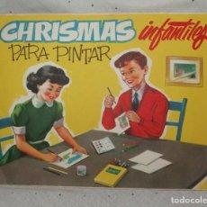 Coleccionismo Papel Varios: CHRISMAS INFANTILES PARA PINTAR,AÑOS 40 Ó 50. Lote 209323681