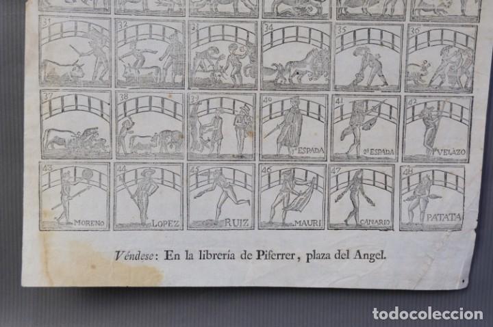 Coleccionismo Papel Varios: Auca Temática taurina-Libreria Piferrer, siglo XIX - Foto 4 - 209971016