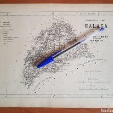 Coleccionismo Papel Varios: MALAGA 1876 GRABADO LITOGRAFÍA. MIGUEL GRILO EDITOR. MADRID. Lote 210105002