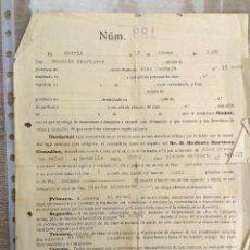 Coleccionismo Papel Varios: CONTRATO DE ALQUILER DE UN RELOJ DE BOLSILLO EN 1928 POR 15 PTS MES. Lote 210225123