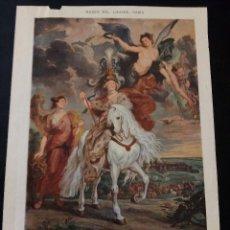 Coleccionismo Papel Varios: RECORTES REVISTA SOBRE CARTULINA PINTURAS LOUVRE PARIS. Lote 210468322