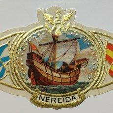 Coleccionismo Papel Varios: VITOLA NEREIDA, SERIE BARCOS, CARABELA ESPAÑOLA. Lote 210610773