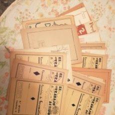 Coleccionismo Papel Varios: LOTE 33 CUADERNILLOS DE COLEGIO ANTIGUOS. Lote 210613667