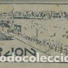 Coleccionismo Papel Varios: VISTAS DE GIJÓN CON PUBLICIDAD DE LA BURGALESA. (POSTALES). Lote 210616786