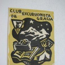 Coleccionismo Papel Varios: BARCELONA-CLUB EXCURSIONISTA DE GRACIA-1935 1936-FELICITACIO ANTIGA NADAL-VER FOTOS-(72.697). Lote 210965622