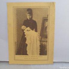 Altri oggetti di carta: LA REINA M°CRISTINA DE AUSTRIA. ALFONSO XIII. PUBLICIDAD MONARQUICA. AÑOS 30.. Lote 211765712