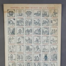 Coleccionismo Papel Varios: AUCA ALELUYA, HISTÒRIA DE DON QUIXOT DE LA MANCHA. 1930- 45X32 CM. Lote 211927578