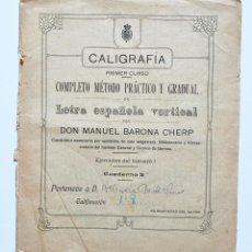 Outros artigos de papel: LIBRETA DE CALIGRAFIA . RELLENA CON MUY BUENA LETRA. AÑOS 40 . . VELL I BELL. Lote 212297725