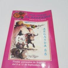 Coleccionismo Papel Varios: LIBRO PEÑA TAURINA EL BARRANCO 1988 ( MADRID ). Lote 212633965