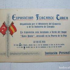 Coleccionismo Papel Varios: EXPOSICION FLOTANTE TURCA-BUQUE KARA DENIZ-INVITACION PERSONAL-VER FOTOS-(V-21.669). Lote 212807220