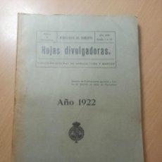 Coleccionismo Papel Varios: HOJAS DIVULGADORAS DIRECCIÓN GENERAL AGRICULTURA Y MONTES MADRID 1922. Lote 213055636