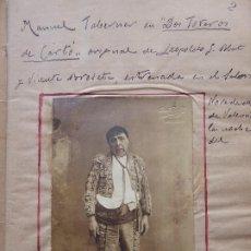 Coleccionismo Papel Varios: PR-2135. CURIOSO CUADERNO PERSONAL DE POESÍA,FOTOGRAFIAS DEL AUTOR Y COMPAÑEROS DE TEATRO.1918.. Lote 213750418