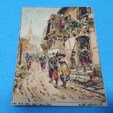 Coleccionismo Papel Varios: PAPEL DE FUMAR - LAYANA LA ZARAGOZANA - SALIDA DEL BATALLÓN - A. DE NEUVILLE. Lote 213757803