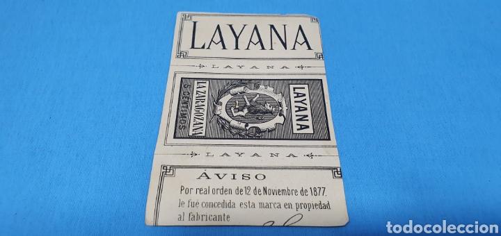 Coleccionismo Papel Varios: PAPEL DE FUMAR LAYANA LA ZARAGOZANA- GUZMÁN EL BUENO - MARTÍNEZ CUBELLS - Foto 2 - 213760346