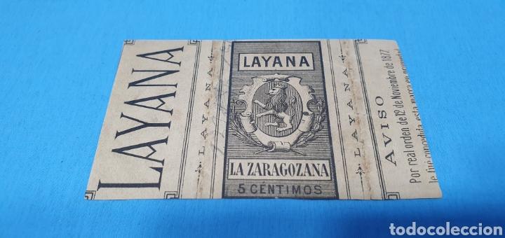 Coleccionismo Papel Varios: PAPEL DE FUMAR - LAYANA LA ZARAGOZANA - CLEOPATRA ENSAYANDO VENENOS - A. CABANEL. - Foto 2 - 213763486