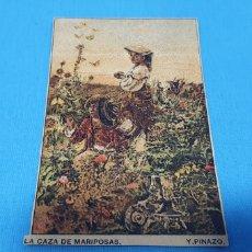 Coleccionismo Papel Varios: PAPEL DE FUMAR - LAYANA LA ZARAGOZANA - LA CAZA DE MARIPOSAS - Y. PINAZO.. Lote 213764490
