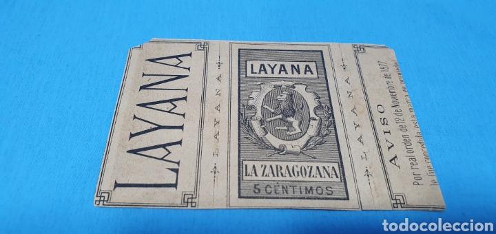 Coleccionismo Papel Varios: PAPEL DE FUMAR - LAYANA LA ZARAGOZANA - LAS NINFAS Y EL SÁTIRO - W. BOUGUEREAU - Foto 2 - 213764981