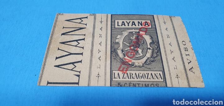 Coleccionismo Papel Varios: PAPEL DE FUMAR - LAYANA LA ZARAGOZANA - EN EL DESCANSO - M. GARCÍA Y MAS. - Foto 2 - 213767395