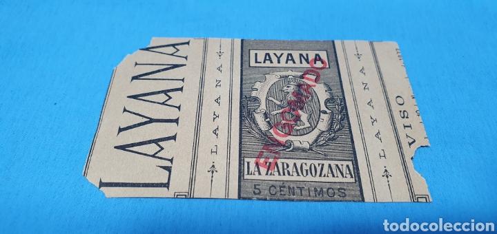 Coleccionismo Papel Varios: PAPEL DE FUMAR - LAYANA LA ZARAGOZANA - MERCADO VALENCIANO - Foto 2 - 213767688