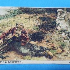 Coleccionismo Papel Varios: PAPEL DE FUMAR - LAYANA LA ZARAGOZANA - EL LEÑADOR Y LA MUERTE - L. LHERMITE. Lote 213850530