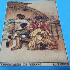 Coleccionismo Papel Varios: PAPEL DE FUMAR - LAYANA LA ZARAGOZANA - TEMPESTADES DE VERANO - A. FABRÉS. Lote 213854583