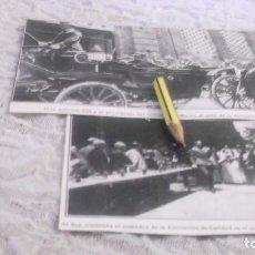 Coleccionismo Papel Varios: RECORTE AÑO 1909 -VALENCIA.S.M. ALFONSO XIII,EN ACTO INAGURACION COMEDOR ASOCIACIÓN DE CARIDAD. Lote 214003033