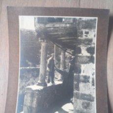 Coleccionismo Papel Varios: ANTIGUA FOTOGRAFÍA COSTA ASTUR PESCADOR DE LASTRES. Lote 214120962