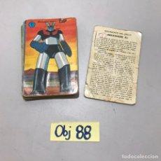 Coleccionismo Papel Varios: ANTIGUAS BARAJAS MAZINGER Z. Lote 214143382
