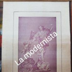 Coleccionismo Papel Varios: ANTIGUA LAMINA EL ANGEL DE LA GUARDA SALZILLO MURCIA DESTRUIDA GUERRA CIVIL. Lote 214330317