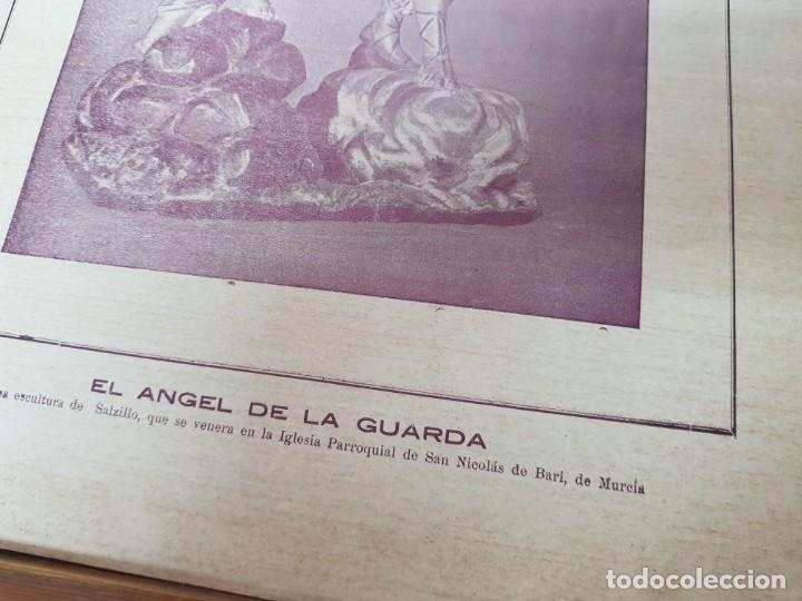 Coleccionismo Papel Varios: ANTIGUA LAMINA EL ANGEL DE LA GUARDA SALZILLO MURCIA DESTRUIDA GUERRA CIVIL - Foto 4 - 214330317