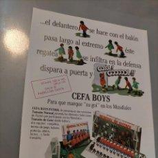 Coleccionismo Papel Varios: PUBLICIDAD GONHER, BARVAL, OESTE, CEFA BOYS, FUTBOL, POPLAND. Lote 214438361