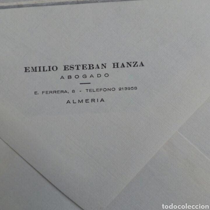 ALMERÍA SOBRE CORRESPONDENCIA ABOGADO EMILIO ESTEBAN HANZA (Coleccionismo en Papel - Varios)