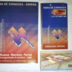 Coleccionismo Papel Varios: FERIA DE MUESTRAS DE ZARAGOZA 1986 INAUGURACIÓN. Lote 214865630
