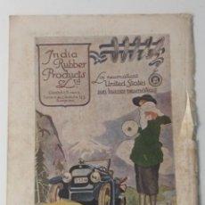 Coleccionismo Papel Varios: LOTE 10 ANUNCIOS ANTIGUOS, 1914-1921, INDIA RUBBER, HENO DE PRAVIA, GAL, CALBER, FLORES DEL CAMPO.... Lote 215139367