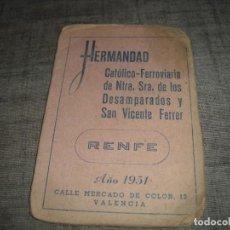 Coleccionismo Papel Varios: CARNET CATÓLICO FERROVIARIO RENFE SAN VICENTE FERRER VIÑETAS. Lote 217464486