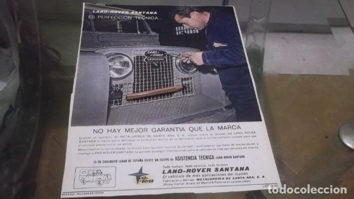 RECORTE PUBLICIDAD AÑO 1965 - TODO TERRENO LAND ROVER SANTANA -LINARES-JAÉN (Coleccionismo en Papel - Varios)