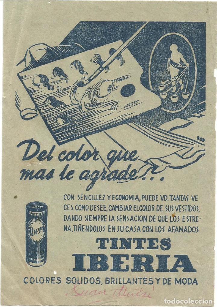 TINTES IBERIA ANTIGUO FOLLETO PUBLICIDAD (Coleccionismo en Papel - Varios)